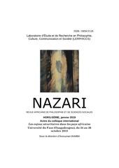nazarihors seriejanvier 2019actes du colloque de ouaga