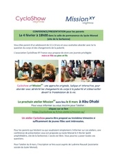 information cycloshow et missionxy  abu dhabi2019