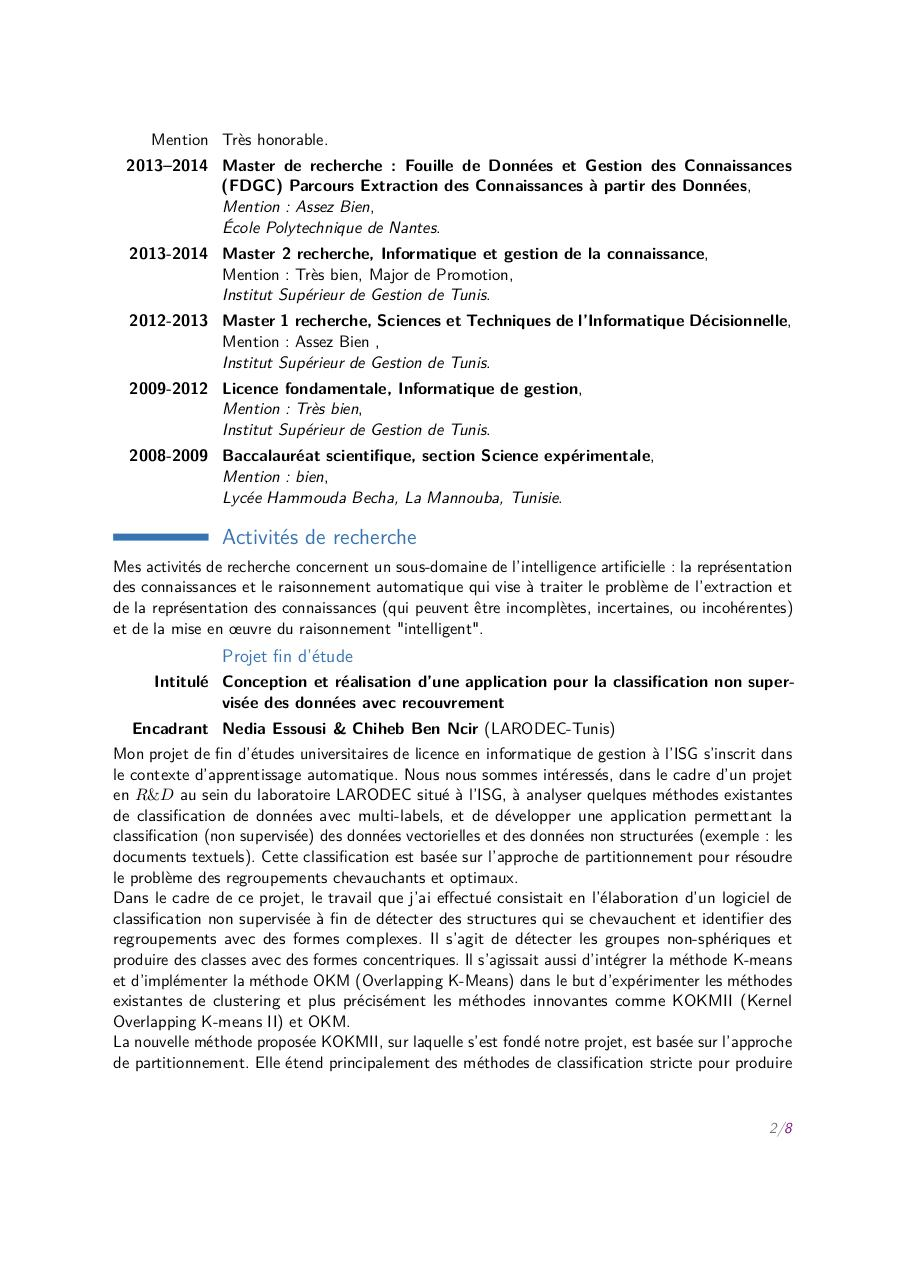 zeineb el khalfi  u2013 docteur en informatique par zeineb el khalfi - cv-el khalfi z pdf