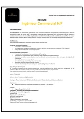 Fichier PDF annonce recrutement