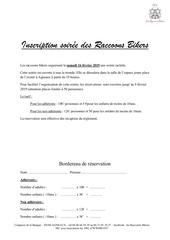 bordereau raclette