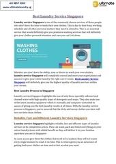 best laundry service singapore
