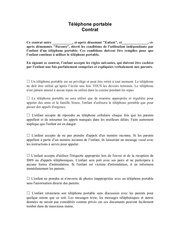 Fichier PDF contrat dutilisation telephone portable