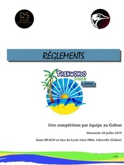 reglement tkd beach 2019