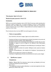 Fichier PDF fiche de poste agent