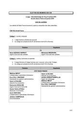 Fichier PDF liste des candidats cse paris ile de france