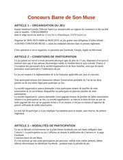 reglement concours barre de son