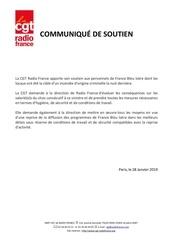 tract cgt   communique soutien a france bleu isere   28012019