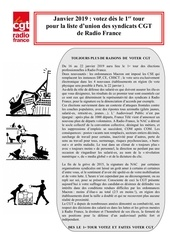 tract cgt   elections 2019 centre sud ouest cgt   janvier 2019
