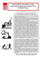 tract cgt   elections 2019 nord ouest cgt   janvier 2019