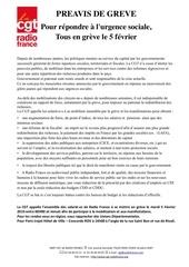 tract cgt   preavis de greve   5 fevrier 2019