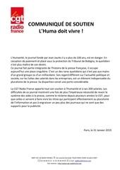 Fichier PDF tract cgt radio france   communique soutien lhumanite   31012019