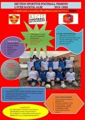 plaquette section sportive foot   feminin rascol albi 2019