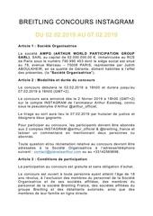 reglement concours ig arthur x breitling franceupdate 2
