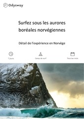 surfez sous les aurores boreales norvegiennes
