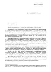 lettre au sujet de vincent lambert au president emmanuel macron