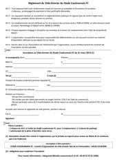 reglement et inscription vide grenier 2019