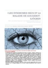 syndrome sec et gougerot sjogren au maroc