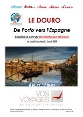 croisire douro   messager   vos voyages