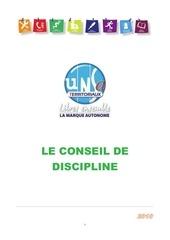 Fichier PDF conseil discipline