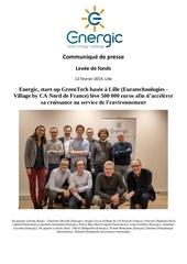 cp energic levee de fonds greentech lille fevrier