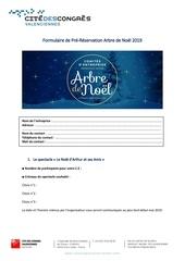formulaire de pre reservation arbre de noel