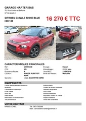 citroen c3 nlle shine blue