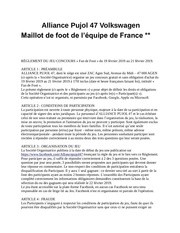 reglement fan de foot   alliance pujol 47