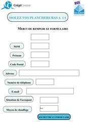 Fichier PDF formulaire isolation 1euro 1