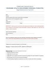 Fichier PDF formulaire inscription