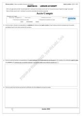 Fichier PDF serie acces compte