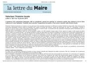 editions sorman   la lettre du maire patrimoine janvier 2019pdf