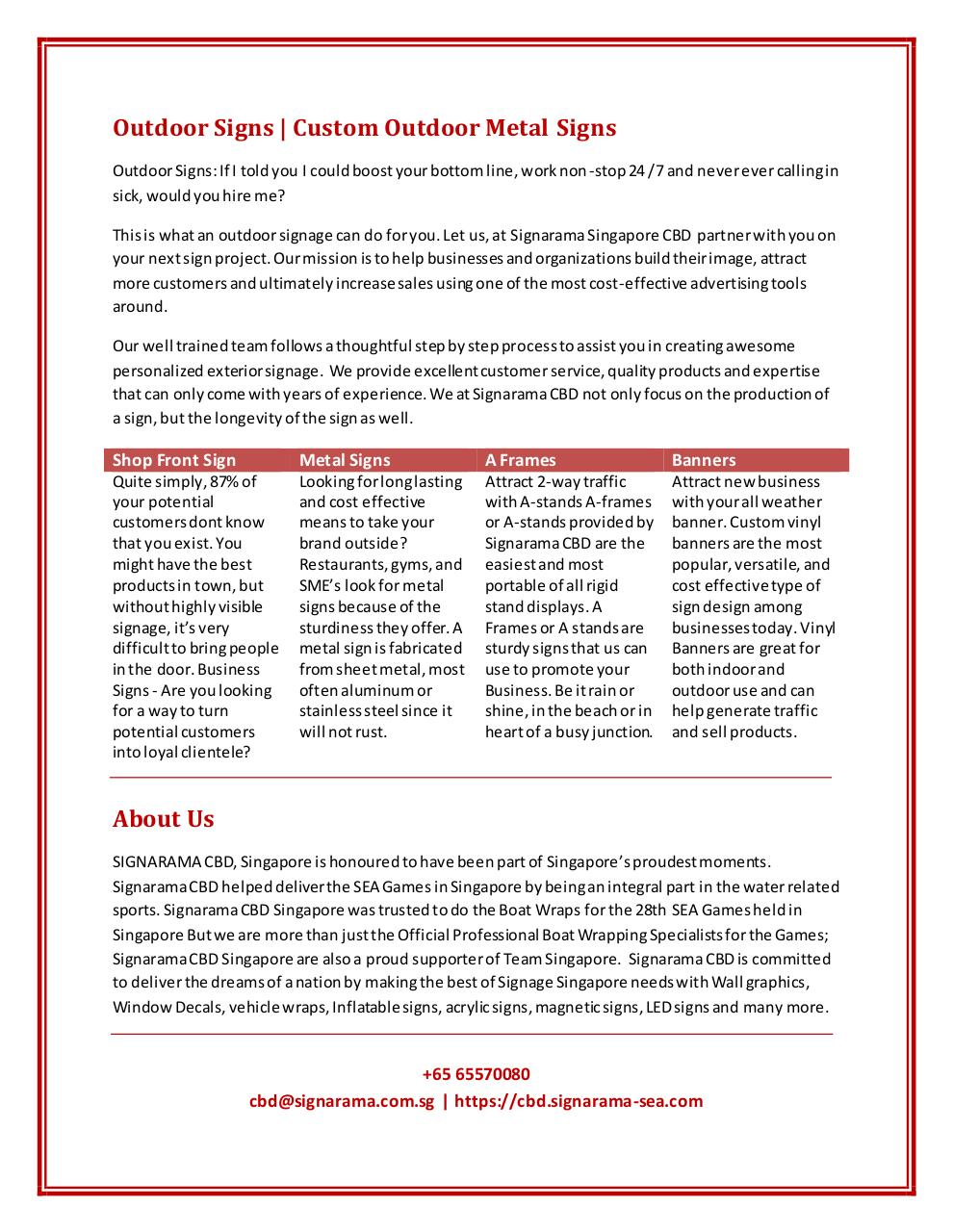 Acrylic Signage Supplier Singapore par cptp236 - Fichier PDF