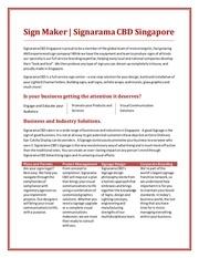 acrylic signage supplier singapore