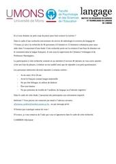 document de recutement