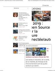 eleces 2019   lopen source pour la voiture connectee autonome