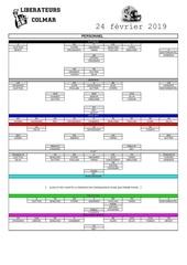 call sheet liberateurs 29 02 2019