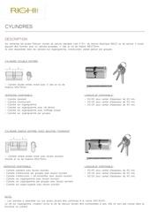 Fichier PDF fiches techniques   cylindres classiques
