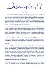 presentation du collectif desormais pdf