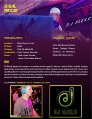press kit dj alexc