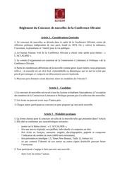 reglement concours de nouvelles 2019 conference olivaint
