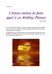 7 bonnes raisons de faire appel a un wedding planner