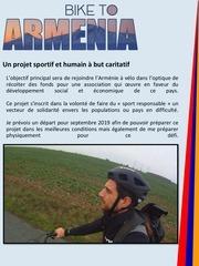 dossier de partenariat bike to armenia