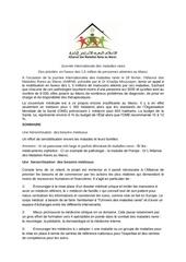 les priorites de la lutte contre les maladies rares  au maroc