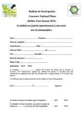 concours bulletin de participation 1