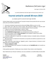 invitation tournoi amical2019