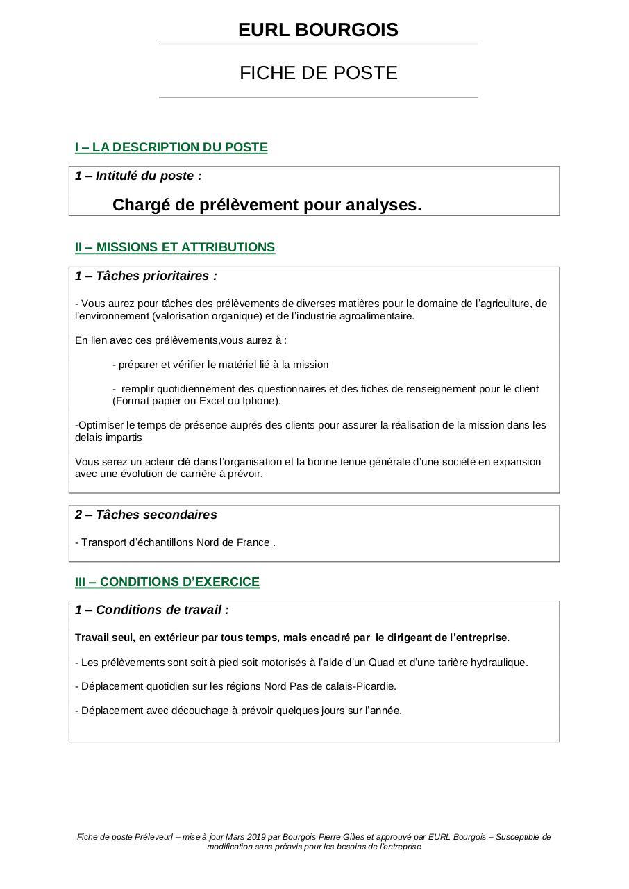 fiche de poste par Rectorat de Dijon - Fichier PDF