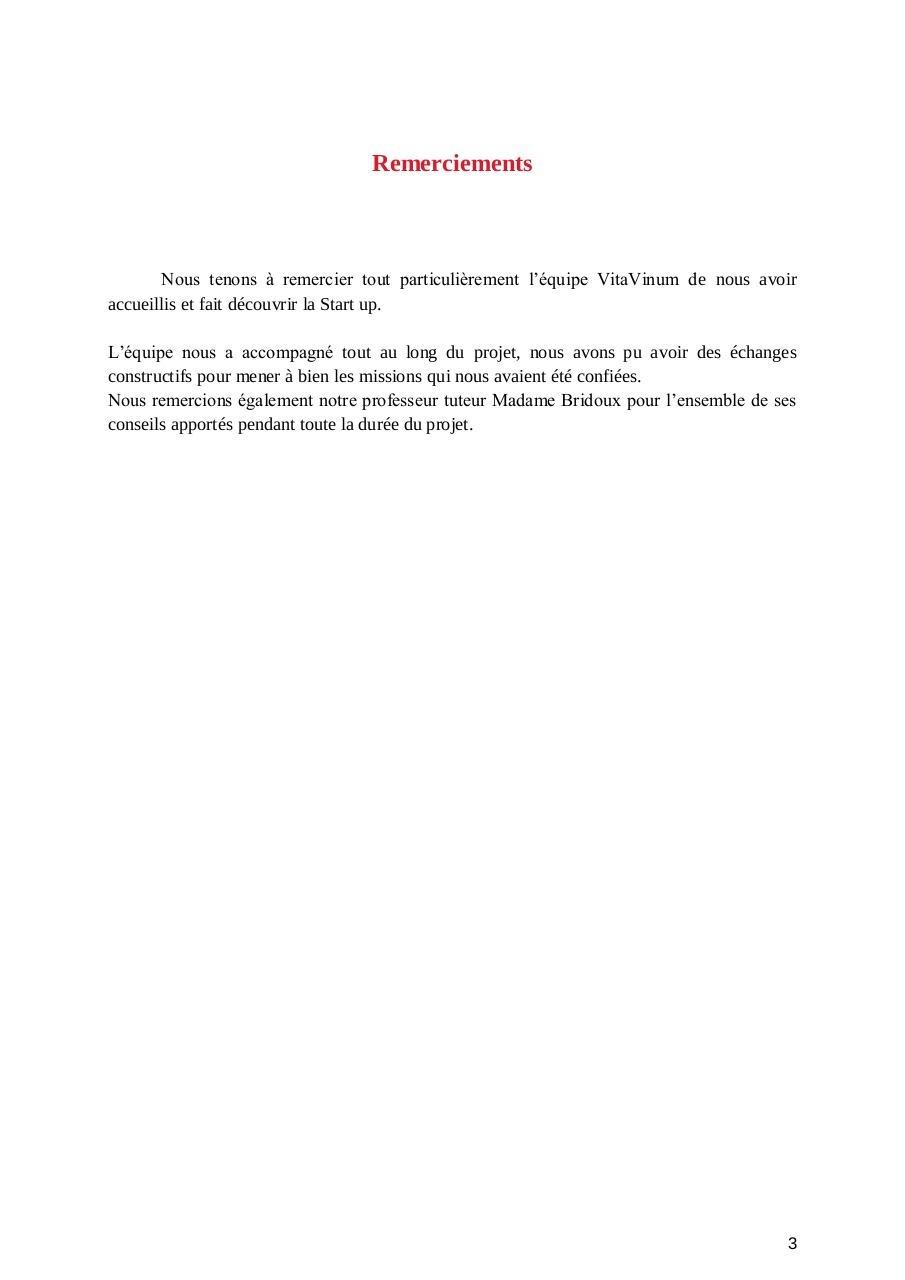 Rapport De Projet Tutoré Vitavinum Par Chloe Content