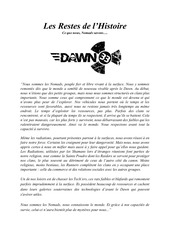 nomads livret background dawn 33 officiel