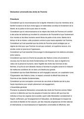 declaration universelle des droits de lhomme